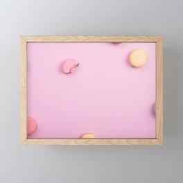 Pink Macaroons Framed Mini Art Print