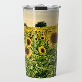 Sunflowers in Portugal Travel Mug