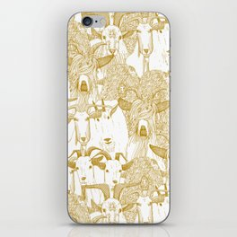 just goats gold iPhone Skin