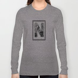 Zentangle N Monogram Alphabet Initials Long Sleeve T-shirt
