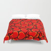 hearts Duvet Covers featuring Heart by 10813 Apparel