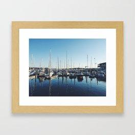 Newport, Rhode Island boats Framed Art Print