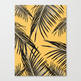 Black Palm Leaves Dream #6 #tropical #decor #art #society6 Canvas Print