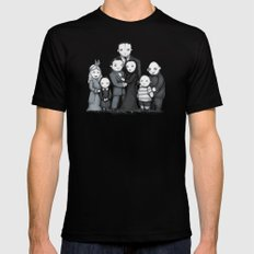 Spooky Plushie Family Black X-LARGE Mens Fitted Tee