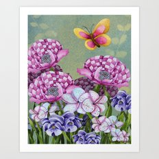 Fanciful Garden Art Print
