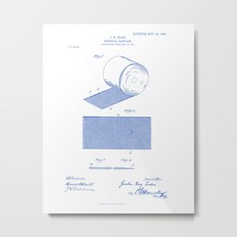 Surgical Bandage Vintage Patent Hand Drawing Metal Print