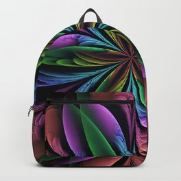 Dreamy fantasy flower, fractal abstract Backpack