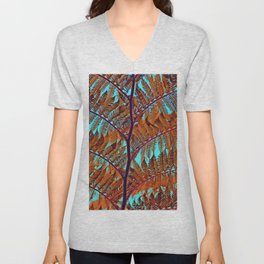Exotic Tree crossing Unisex V-Neck