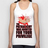 patriarchy Tank Tops featuring Baby Patriarchy #1 by Snarky Tiger Designs