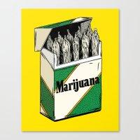 marijuana Canvas Prints featuring Mainstream Marijuana by Kelsey Dake