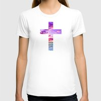 scripture T-shirts featuring CROSS by Pocket Fuel