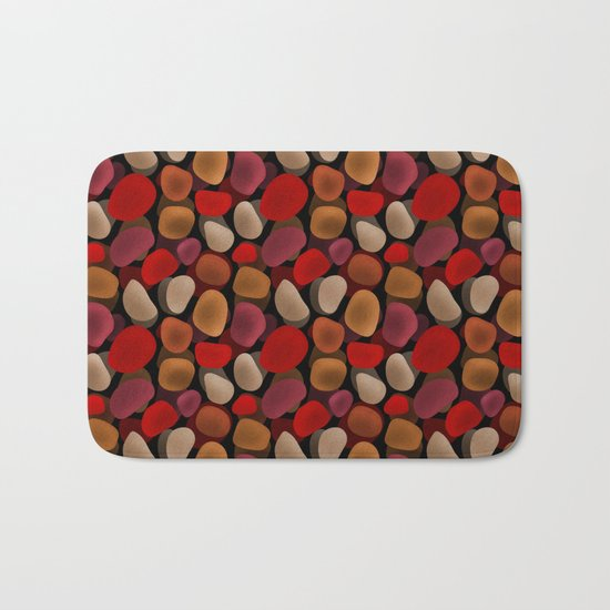 Abstract pattern . Sea stones .2 . Bath Mat