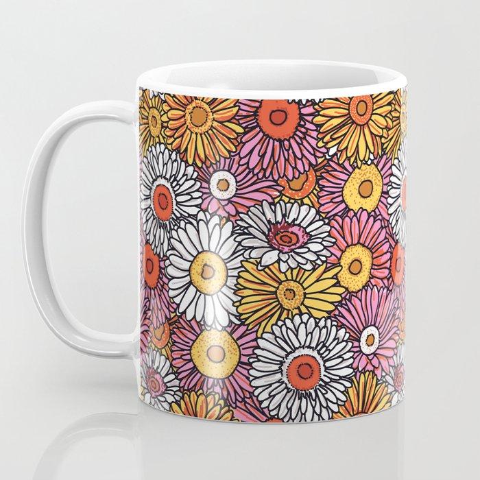 Daisy Pattern Coffee Mug