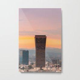 Sunset over my city Metal Print