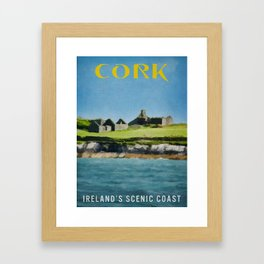 Cork Ireland Vintage Travel Poster Framed Art Print