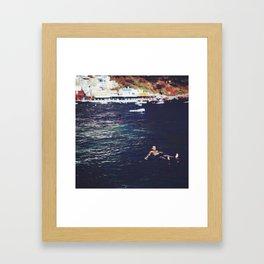 swim for your life Framed Art Print