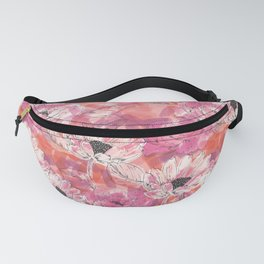 Punky Pink Floral Fanny Pack