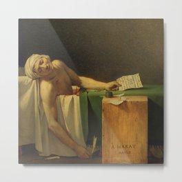 The Death of Marat, Jacques-Louis David  Metal Print