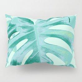 Tropical Monstera Leaves Dream #4 #tropical #decor #art #society6 Pillow Sham