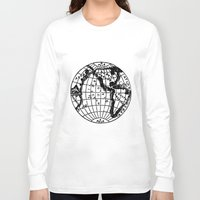 globe Long Sleeve T-shirts featuring Globe by Gallymogger Print