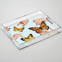 Social Butterflies Acrylic Tray