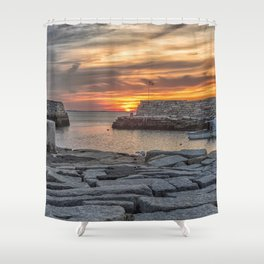 Sunset at Lanes cove 5-5-18 Shower Curtain