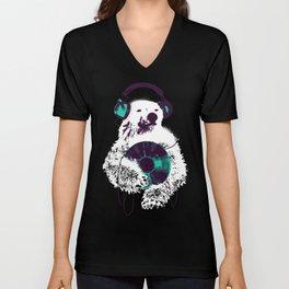 Record Bear Unisex V-Neck