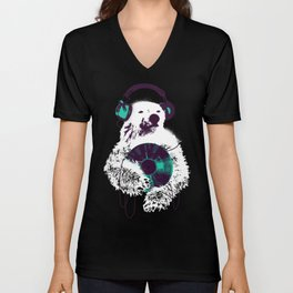 Record Bear Unisex V-Neck