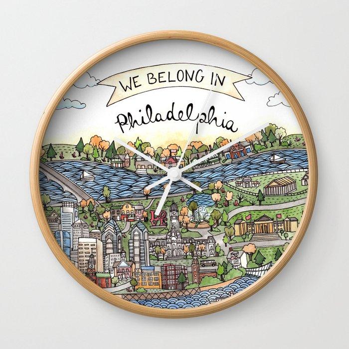 We Belong in Philadelphia! Wall Clock