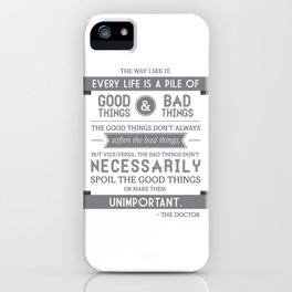 Good Things & Bad Things (gray) iPhone Case