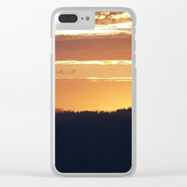 Sunset in the park Clear iPhone Case