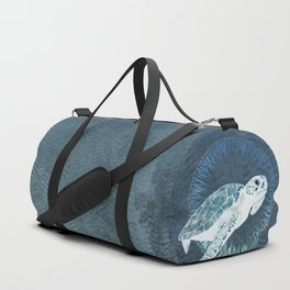 Green Sea Turtle Wreath Duffle Bag
