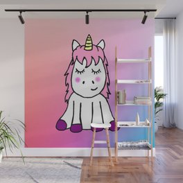 Happy Unicorn Wall Mural