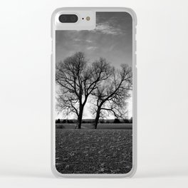 Concept nature : Two tree´s Clear iPhone Case