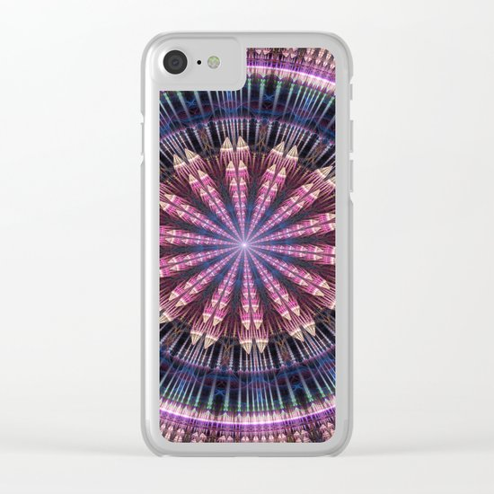 Star shine, tribal pattern mandala Clear iPhone Case
