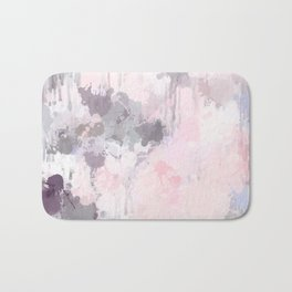 Modern Contemporary soft Pastel Pink Grey Abstract Badematte