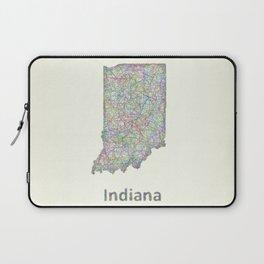 Indiana map Laptop Sleeve