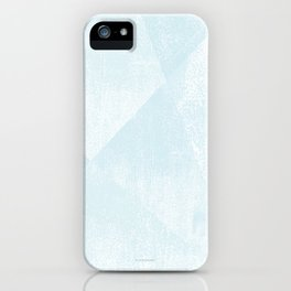 Light Blue and White Geometric Triangles Lino-Textured Print iPhone Case