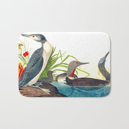 Red-Throated Diver Duck Bath Mat