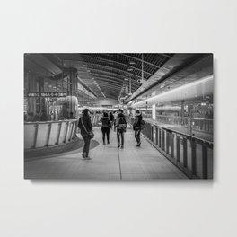MRT Interior B&W Metal Print