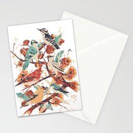 Oiseaux et fleurs Stationery Cards
