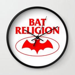 Bat Religion Wall Clock