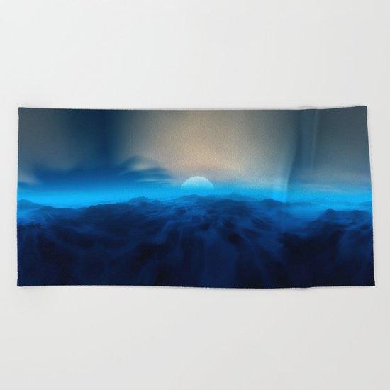 Blue #moon Beach Towel