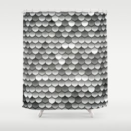 Medieval Fantasy | Metal scales Shower Curtain