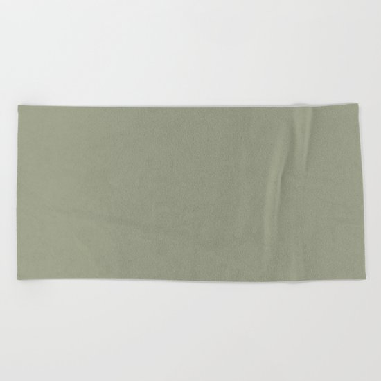 Simply Green Tea Beach Towel