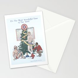 Team Cap Nice Pinup Holiday Card Stationery Cards