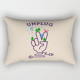 UNPLUG Rectangular Pillow