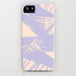 Modern lilac ivory violet geometrical shapes patterns iPhone Case