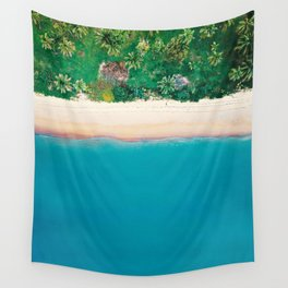 Tropical Beach Vibes | Aerial Photography  Wall Tapestry