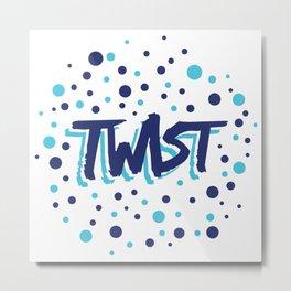 Twist N.13Bis Modele Rond Metal Print